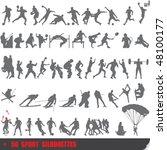 vector set of 50 very detailed... | Shutterstock .eps vector #48100177