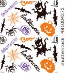 seamless pattern for halloween. ... | Shutterstock .eps vector #481004272
