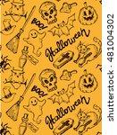 seamless pattern for halloween. ... | Shutterstock .eps vector #481004302