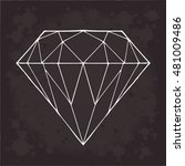 diamond vector on a black... | Shutterstock .eps vector #481009486