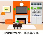 interior living room with a...   Shutterstock .eps vector #481009948