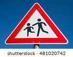 german road sign  children... | Shutterstock . vector #481020742