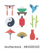 culture of asia  vector flat... | Shutterstock .eps vector #481030102