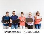 education social media concept. ... | Shutterstock . vector #481030366