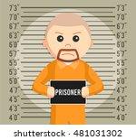 prisoner mugshot background... | Shutterstock .eps vector #481031302