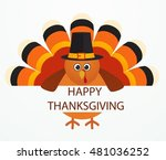 thanksgiving day. colorful... | Shutterstock .eps vector #481036252