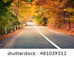 Colorful Autumn Scene In The...