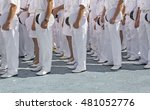 Navy Personnel In Formation