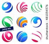 set of colorful vector sphere... | Shutterstock .eps vector #481054576