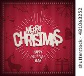 vector retro christmas greeting ... | Shutterstock .eps vector #481063252