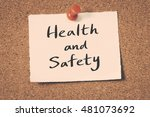 health and safety | Shutterstock . vector #481073692