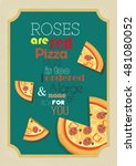 pizza quote. food quote. pizza... | Shutterstock .eps vector #481080052
