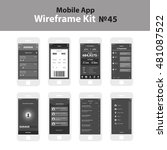 mobile wireframe app ui kit 45. ...