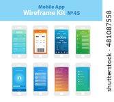 mobile wireframe app ui kit 45. ...