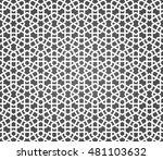 seamless islamic pattern of...   Shutterstock .eps vector #481103632
