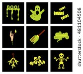 assembly flat icons halloween... | Shutterstock .eps vector #481104508