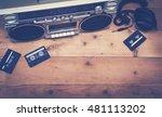 top view music header | Shutterstock . vector #481113202