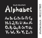 alphabet. individual hand... | Shutterstock . vector #481117885