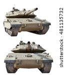 israeli battle tank merkava mk3. | Shutterstock . vector #481135732