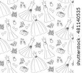 vector seamless white ... | Shutterstock .eps vector #481140535