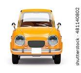 retro car orange in 60s style... | Shutterstock . vector #481140802