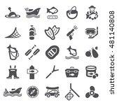 fishing icons | Shutterstock .eps vector #481140808