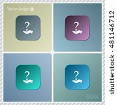 question mark icon holding by... | Shutterstock .eps vector #481146712