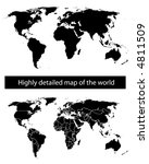 highly detailed map of the... | Shutterstock .eps vector #4811509