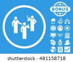 discussion group icon with... | Shutterstock .eps vector #481158718