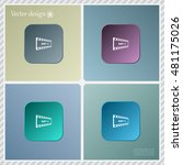 mp4 video file extension icon... | Shutterstock .eps vector #481175026