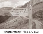 Footpath Signpost At Honister...