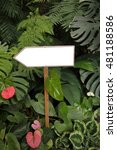 homemade direction pointer... | Shutterstock . vector #481188586