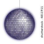 purple disco ball | Shutterstock .eps vector #4811911