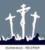 jesus christ crucifixion  ... | Shutterstock .eps vector #48119569