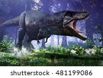 3d rendering of tyrannosaurus... | Shutterstock . vector #481199086