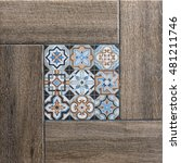 geometric tiles with mosaic | Shutterstock . vector #481211746