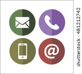 communication icons with white... | Shutterstock .eps vector #481212742