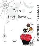 sweet candy halloween background | Shutterstock .eps vector #481232785