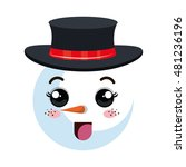 Snowman Happy Face Cartoon
