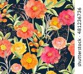 vector illustration of floral... | Shutterstock .eps vector #481236736