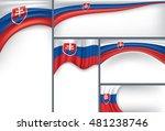 abstract slovakia flag  slovak...   Shutterstock .eps vector #481238746