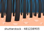 dandruff vector   closeup on... | Shutterstock .eps vector #481238905