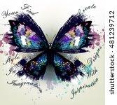 fashion conceptual background... | Shutterstock .eps vector #481239712