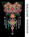 ethnic embroidery pattern...   Shutterstock . vector #481257652