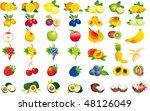 fruits vector | Shutterstock .eps vector #48126049