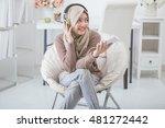 portrait of beautiful asian... | Shutterstock . vector #481272442