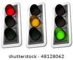 isolated illustration of three... | Shutterstock . vector #48128062