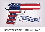 second amendment support. we... | Shutterstock .eps vector #481281676