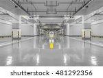 empty parking lot wall. urban ... | Shutterstock . vector #481292356