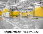empty parking lot wall. urban ... | Shutterstock . vector #481293322